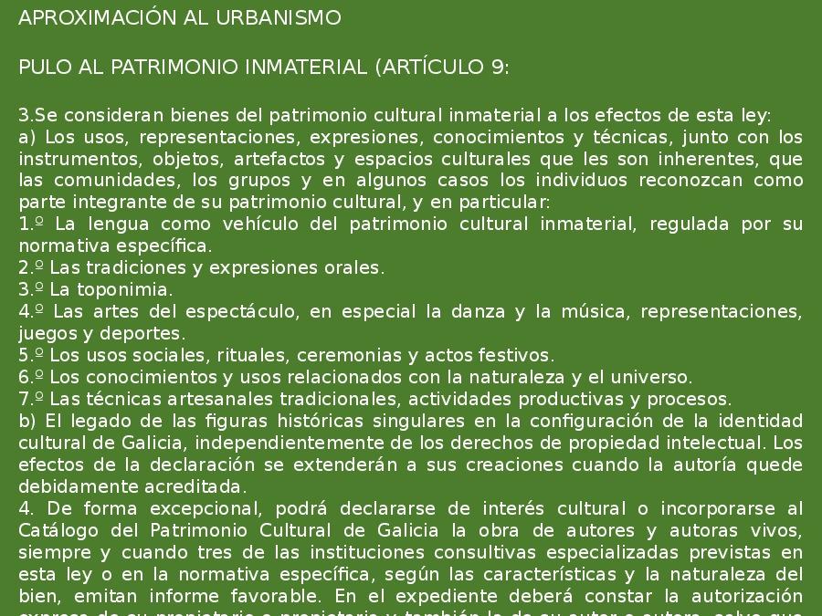 Novidades da Lei 5/2016, de 4 de maio, do patrimonio cultural de Galicia
